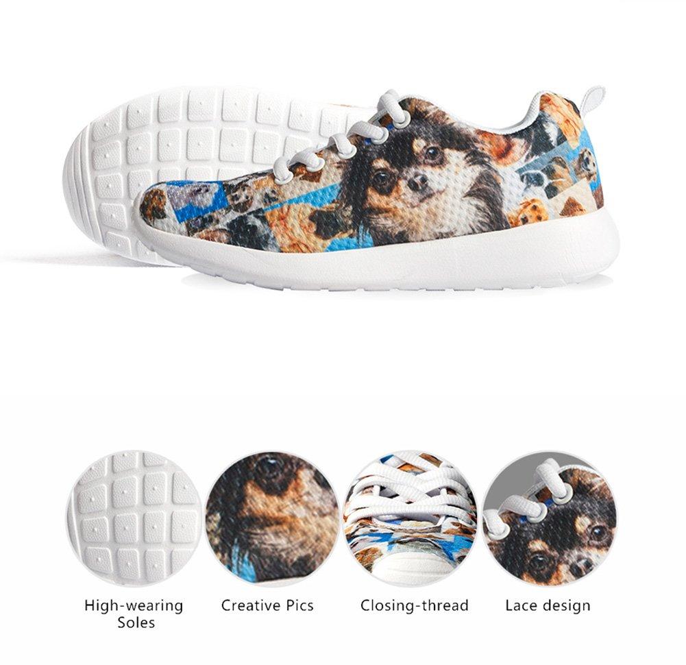 HUGS IDEA HUGSIDEA Pet Dog Print Kids Mesh Breathable Sneaker Fashion Running Shoes For Girls by HUGS IDEA (Image #6)