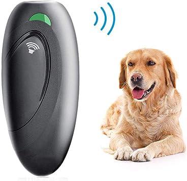 Anti Barking Device Ultrasonic Dog Bark Deterrent Ultrasonic Dog Barking Control Devices and 2 in 1 Dog Training Aid Control Range of 16.4 Ft Handheld Dog Bark Trainer Stop Barking Walk a Dog Outdoor