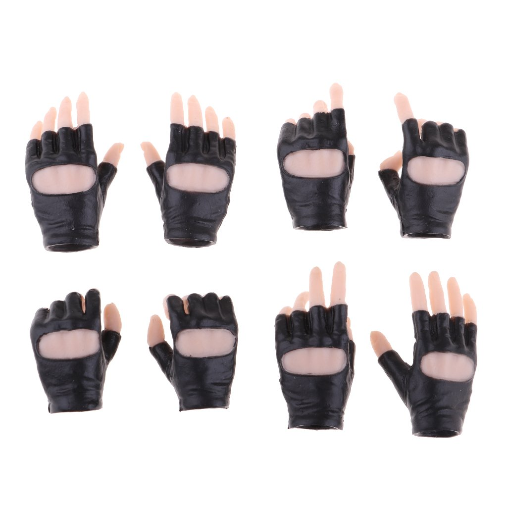 Baoblaze 4 Pairs 1/6 Scale Female Acessories Complexion Hand Style Gloves for 12'' Phicen Tbleague Jiaoudoll Female Action Figure