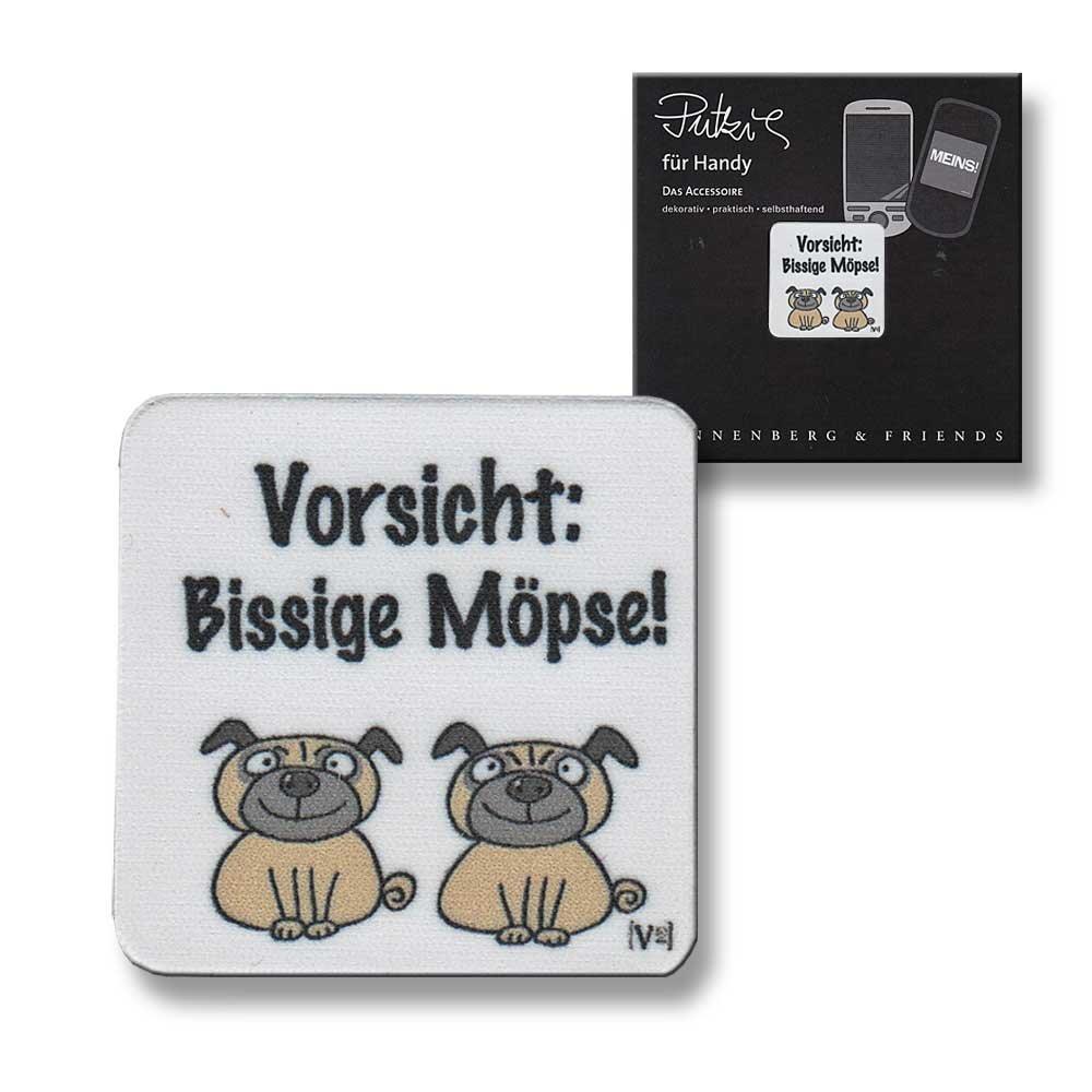 Putztuch fü rs Handy Displayputztuch Vorsicht bissige Mö pse Hunde Unbekannt