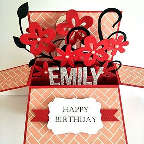 Amazon Name Personalised Birthday Card Girlfriend Anniversary