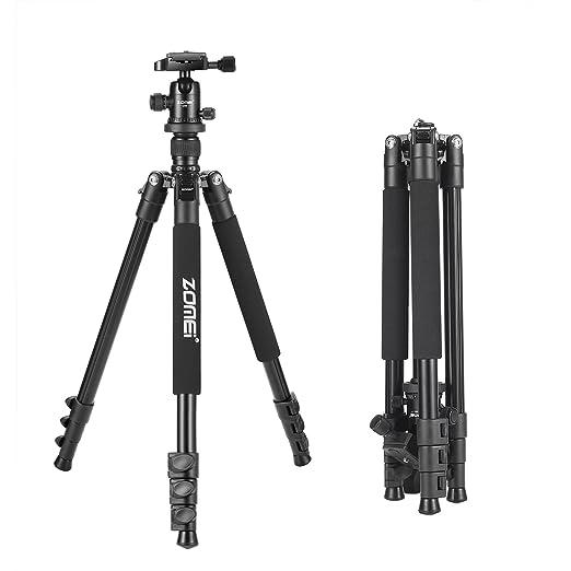 21 opinioni per ZOMEI- Q555 Treppiede Compatto da Viaggio, in Alluminio Leggero per Fotocamera