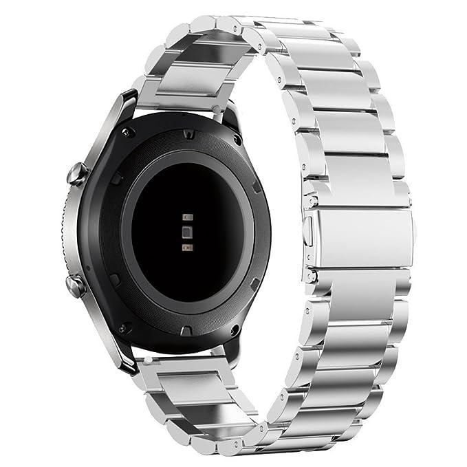 Gear S3 Frontier/Classic Watch Bands, 22 mm banda de acero ...