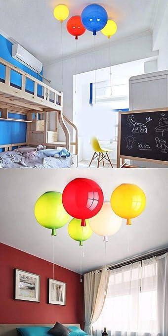 AOKIY Hängelampe Pendelleuchte Ballon Deckenleuchte Acryl Eisen Industrial  Retro Kronleuchter Vintage Modern Loft Lampenschirm Kid Küche ...