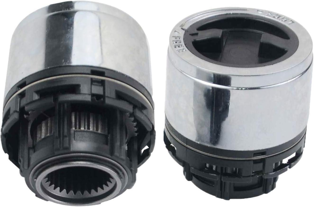 15001.70 Manual Locking Hub Spline Internal Mount Replacement for 1998-2003 Ford Ranger Explorer 1998-09 Mazda B2300 B2500 B3000 B4000 Pickup GLOSSY Set of 2