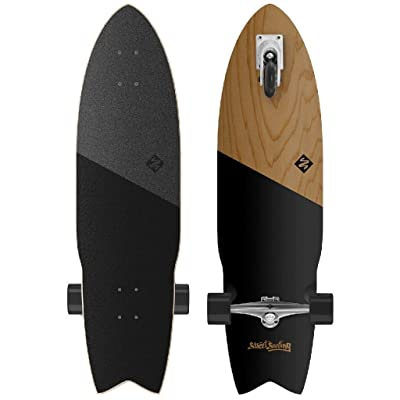 Street Surfing Shark Attack Longboard Casterboard Surf Carving Cruiser 9.6 x 36 : Sports & Outdoors