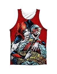 Batman DC Superhero Harley Quinn Crime Scene Front/Back Print Tank Top Shirt
