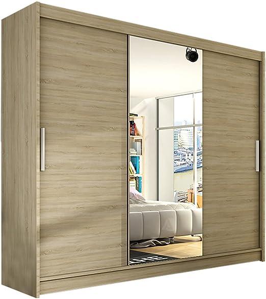 Ye Perfect Choice - Armario moderno para dormitorio con 3 puertas correderas (tamaño grande, 1 ancho: 250 cm): Amazon.es: Hogar