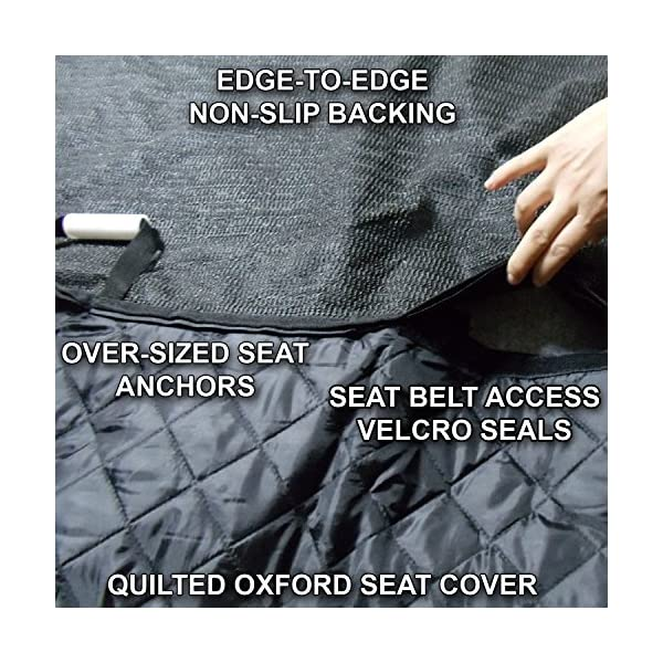Ultimate Pet Seat Cover And Dog Hammock For Cars SUVs And Trucks With Detachable Fleece Mat
