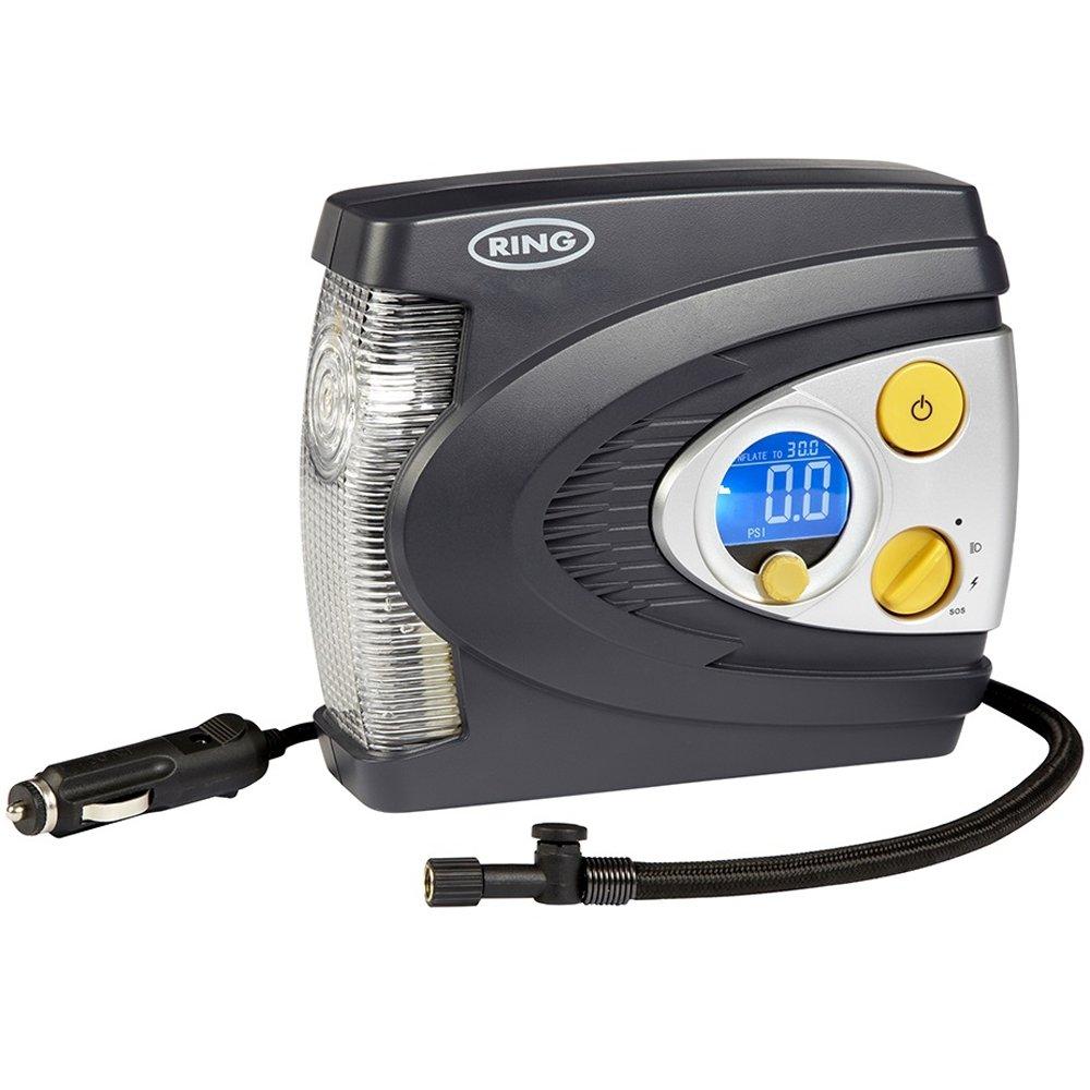 Ring RAC635 Compresor de Aire Digital Preconfigurado con Caja, Adaptador y Luz LED product image
