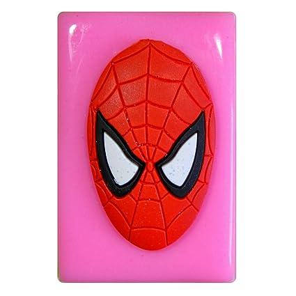 Máscara de Spiderman grande Molde de silicona para la torta de Decoración Pastel de Cupcake Toppers