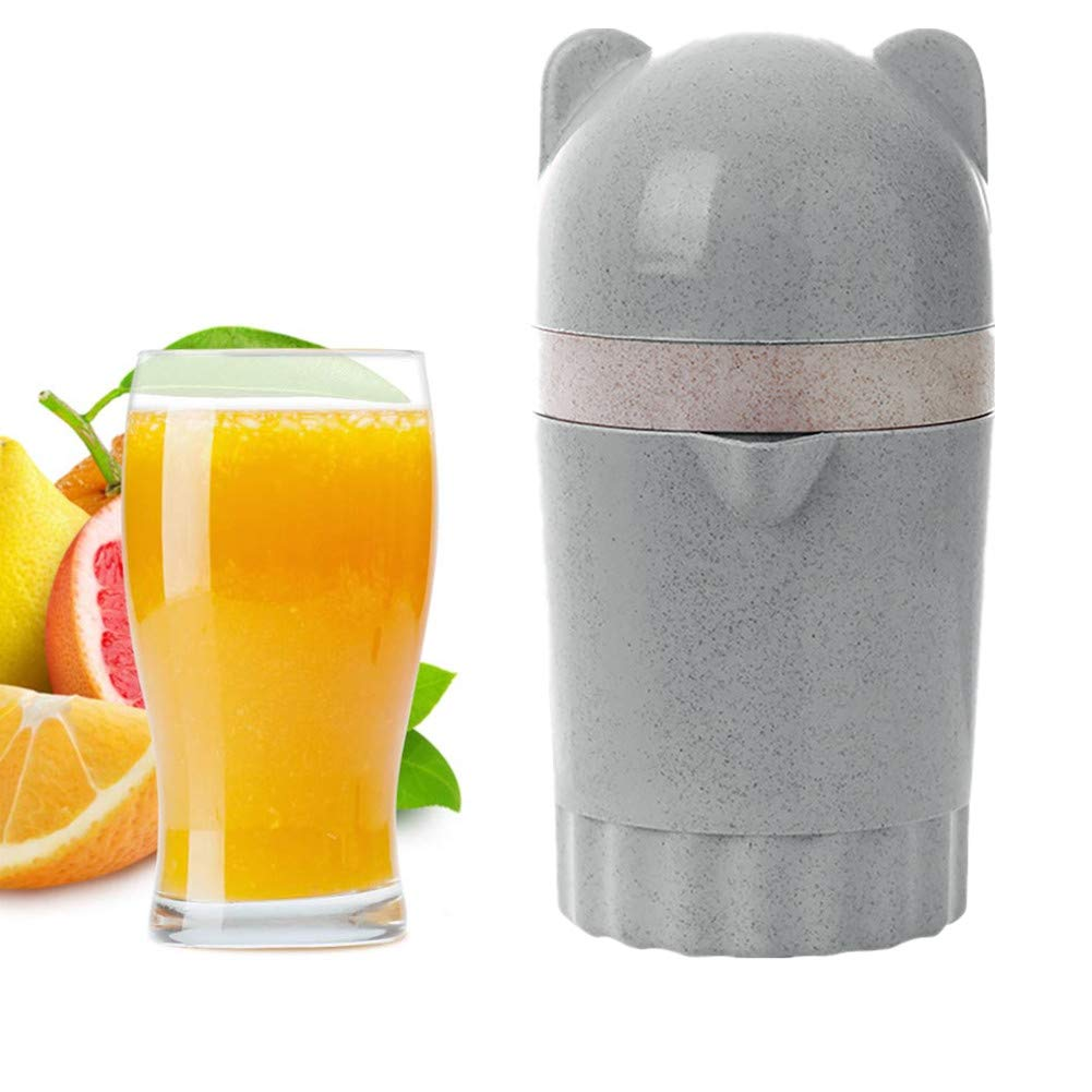 BSRYO Fruit Manual juicer for Citrus Oranges Lemons Blue Travel Supplies Light Portable juicer Manual Rotary Press with Container and Filter