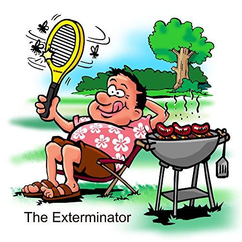 The Exterminator Bug Zapper Racket Fly Swatter Kill