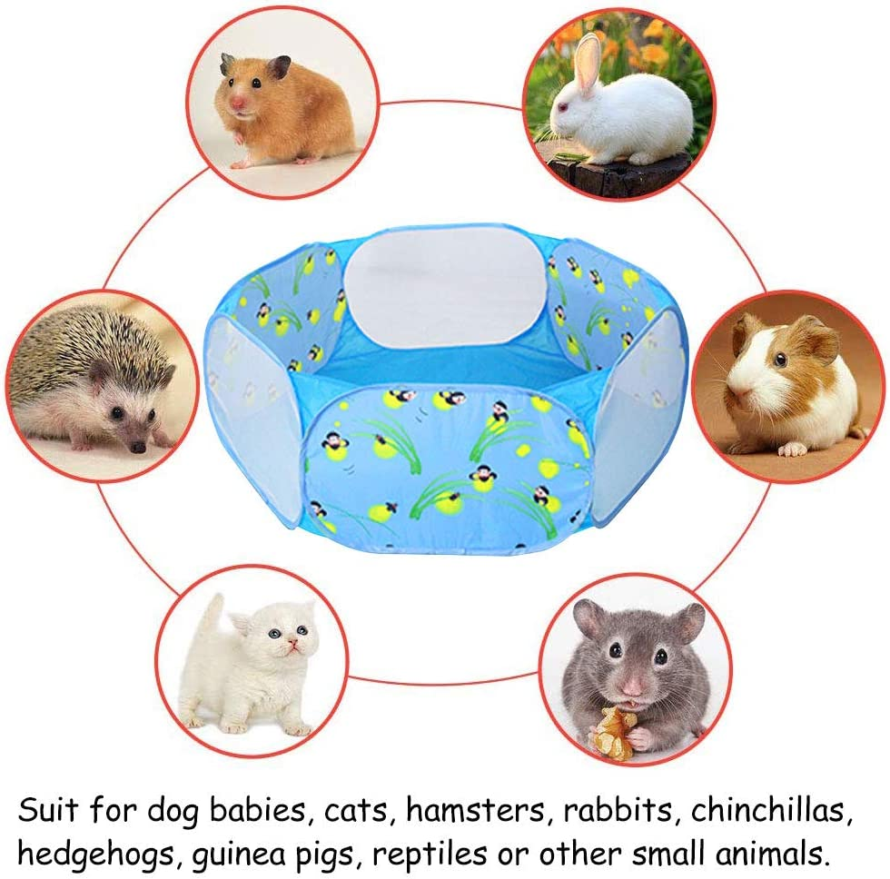 Chinchillas Oncpcare h/ámster Parque de Juegos para Mascotas peque/ñas h/ámster Gatos erizos Cerca de Patio port/átil para Conejos de Indias Tienda de campa/ña para Reptiles Exterior o Interior