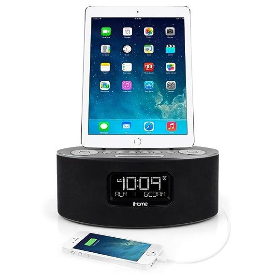 Amazon.com: iHome iDL46 Lightning Dock Clock Radio and USB Charge ...