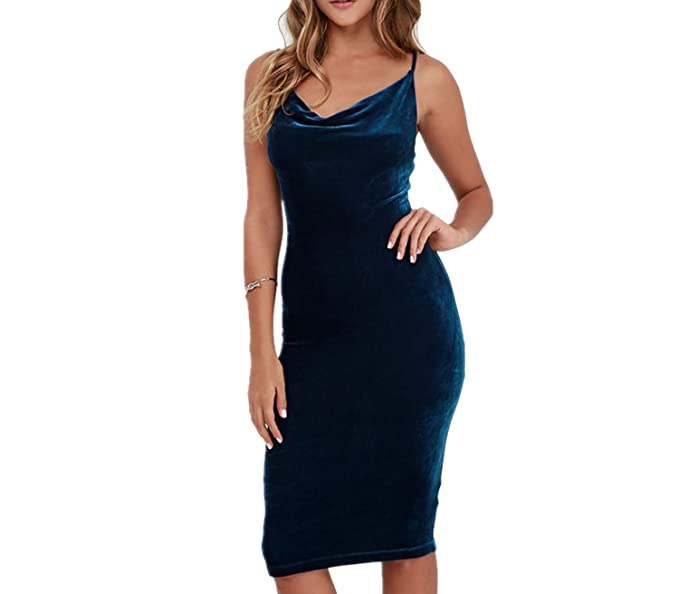 Cool Wearer Women Sexy Spaghetti Strap Sheath Party Evening Dress Plus Size Casual Velvet Vestidos,