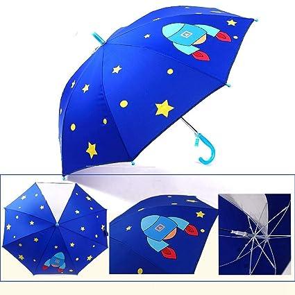 HMKLDFTY Paraguas de los niños Impresión automática del Logotipo Gráfico Creativo Lindo Paraguas de Dibujos Animados