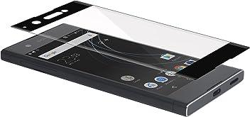 StilGut Protection d'écran invisible 3D en verre trempé pour Sony Xperia XA1. Protection en verre trempé, ultra-résistante transparente et incurvée
