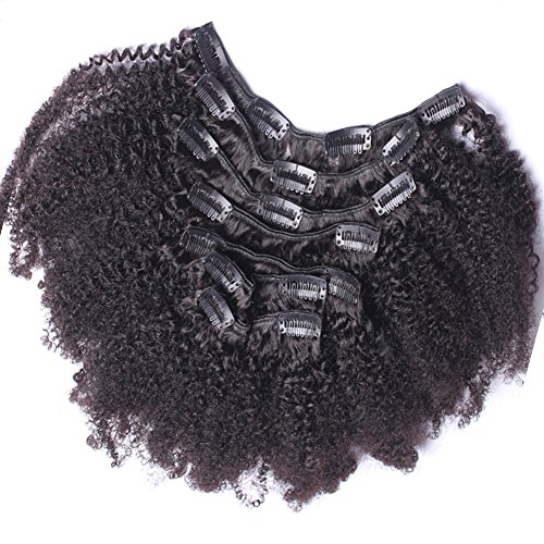 """Search : Afro Kinky Curly Clip In Human Hair Extensions Mongolian Virgin Human Hair African American Clip In Extensions16"""" Clip Ins 120gram/set,7pcs"""