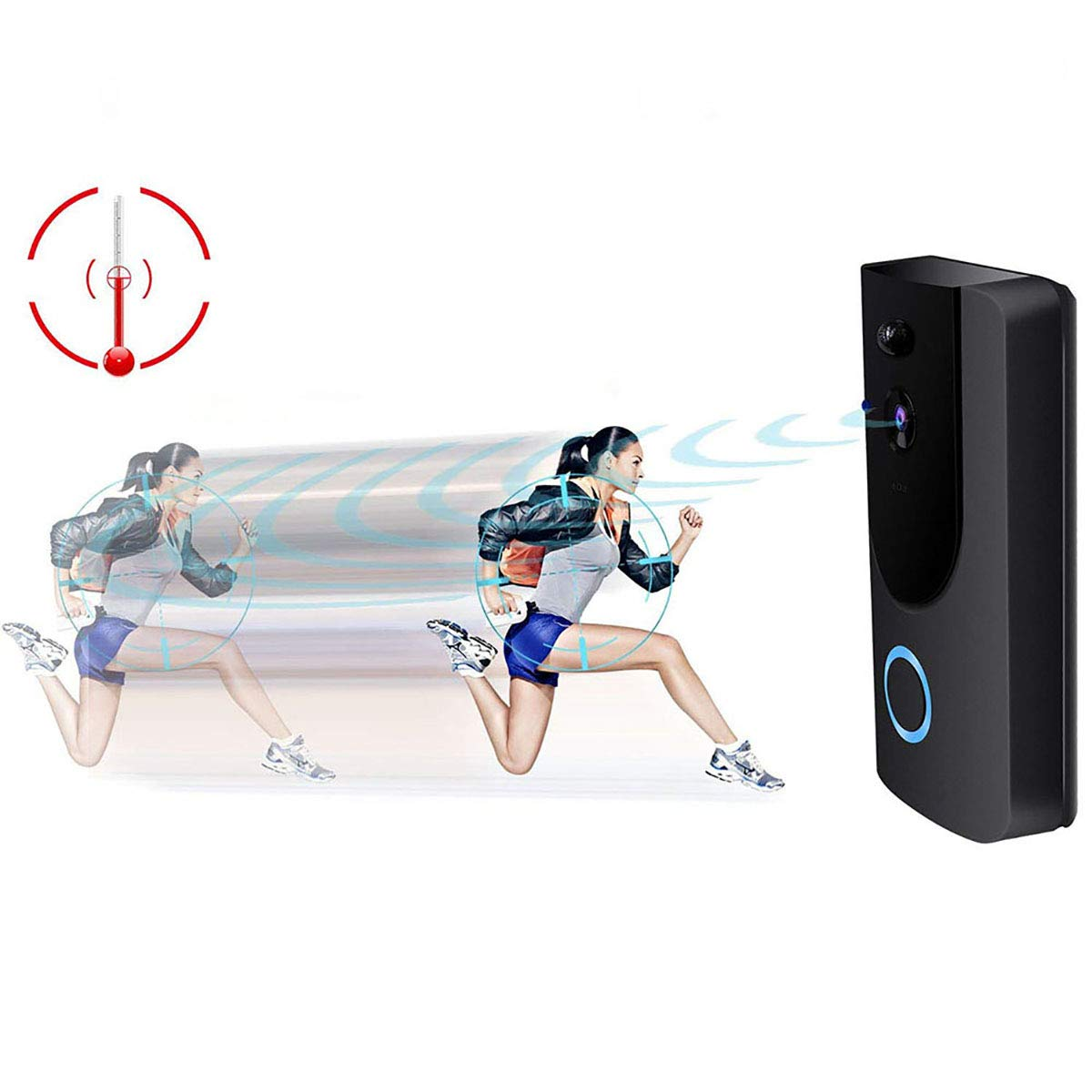 Video Doorbell,Visual Doorbell Camera 720P HD Wifi Security Camera with 16G TF Card, Chime and Battery,Real-Time Two-Way Talk, Night Vision,PIR Motion Detection,App Compatible for iPhone and Android by LeVcoecam (Image #6)