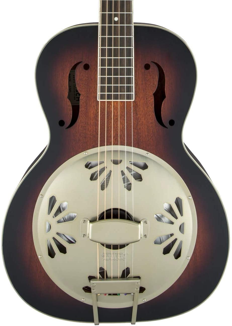 Gretsch G9240 Alligator Mahogany Round Neck Resonator - 2-Color Sunburst, Padauk Fingerboard