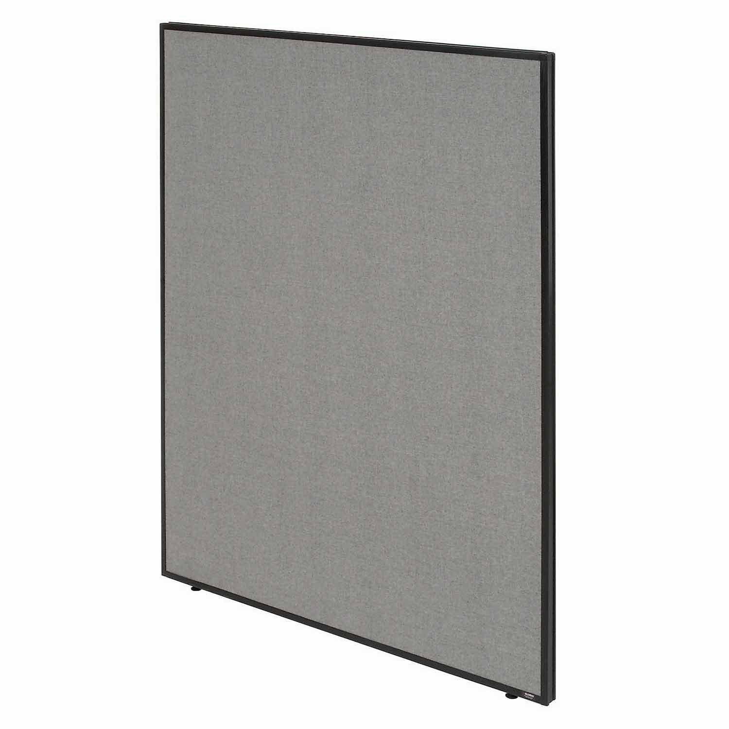 48-1/4''W x 72''H Office Partition Panel, Gray by Global Industrial