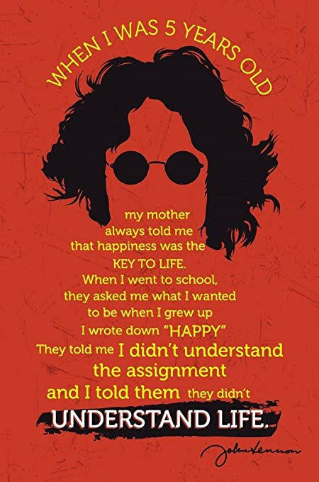 Amazon John Lennon Quote When I Was 5 Years Old Understand
