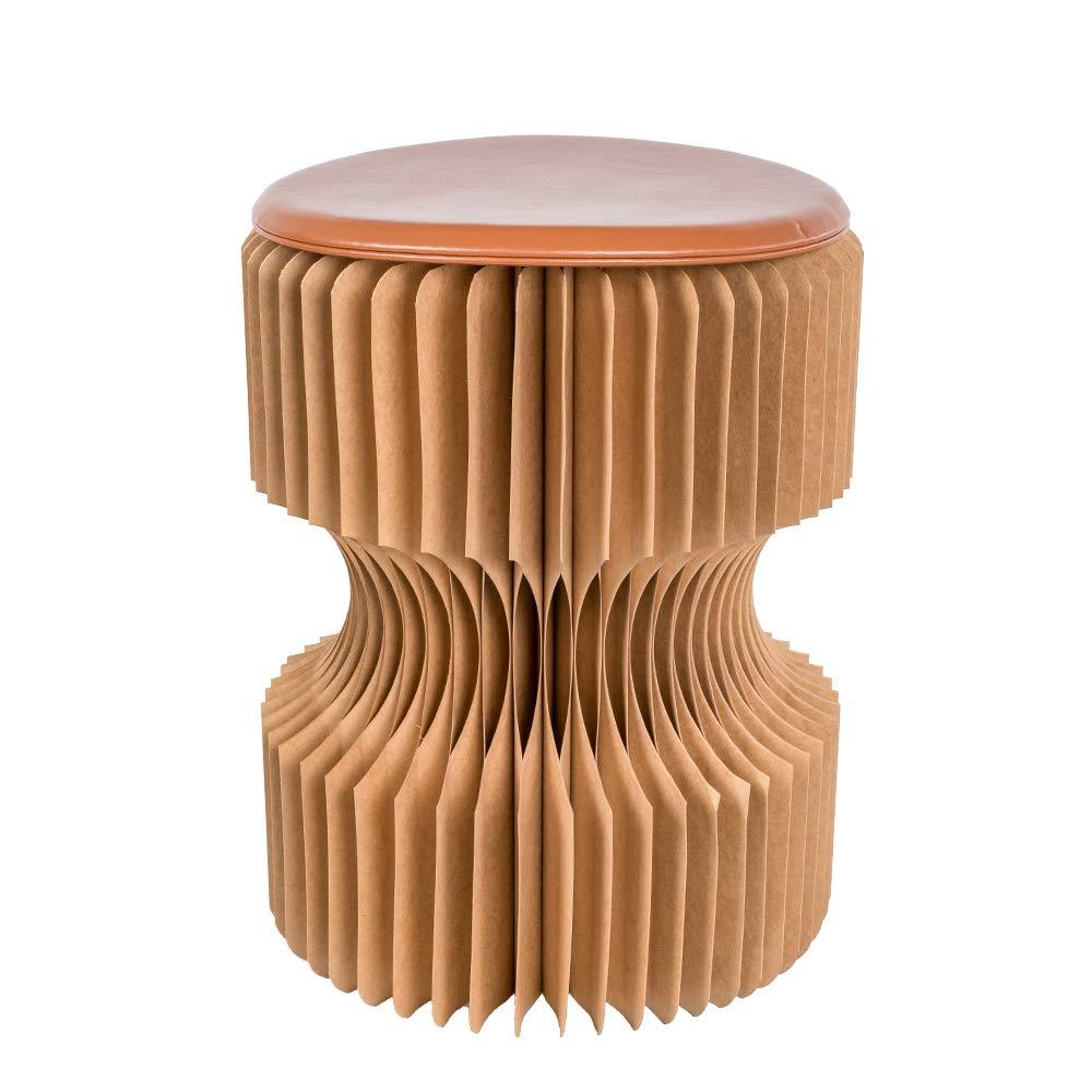 Kingdom Folding Kraft Paper Stool Paper Seat Ideal for School,Living Room (Brown) by Kingdom