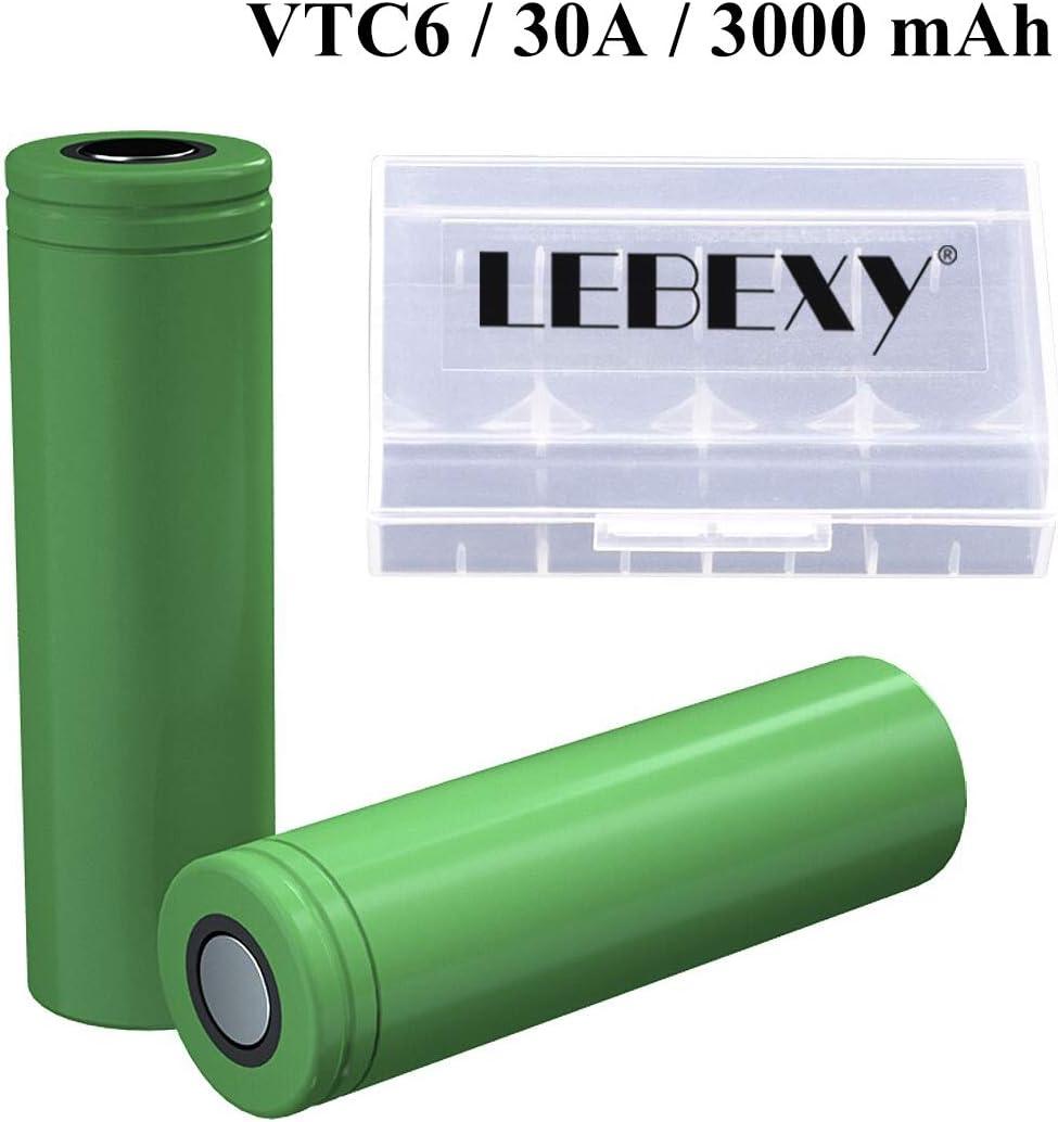 LEBEXY [2019 New] VTC6 18660 Akku für E-Zigarette 3120mAh 30Amp Akkus