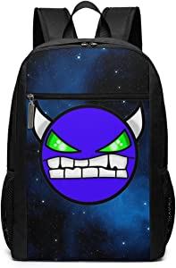 IIOOsdn Geom-etry Devil Da-sh Laptop Backpack 17 Inch Travel BusinessBackpack School Bags Casual Daypack For Teens Adults