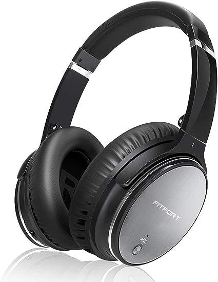 Casque Bluetooth sans Fil Antibruit Hiearcool Headphones Wireless Reduction de Bruit Universel Portable,Stéréo Qualité HiFi, pour Tous Les Appareils
