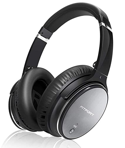 Best Wired Headphones 2020.Fitfort Active Noise Cancelling Headphones 2020 Upgraded Bluetooth 5 0 Headphones Over Ear With Hifi Deep Bass And Memory Ear Pad Support