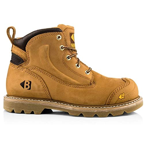 f13ce7697f4 Buckler Boots Safety Lace Boot B650SM Honey Nubuck Leather: Amazon ...