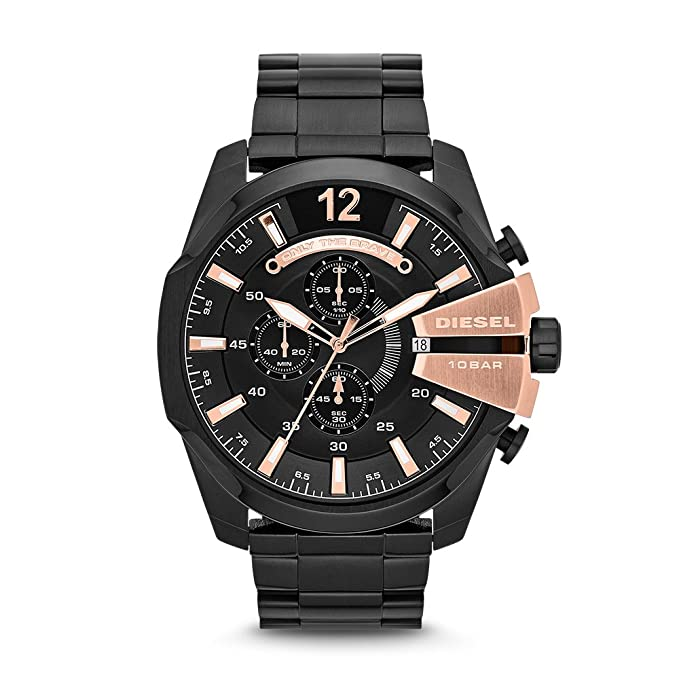 Amazon.com: Diesel Mens DZ4309 Mega Chief Black Ip Watch: Diesel: Watches