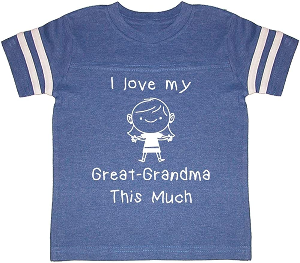 Little Girl Toddler//Kids Sporty T-Shirt I Love My Great-Grandma This Much