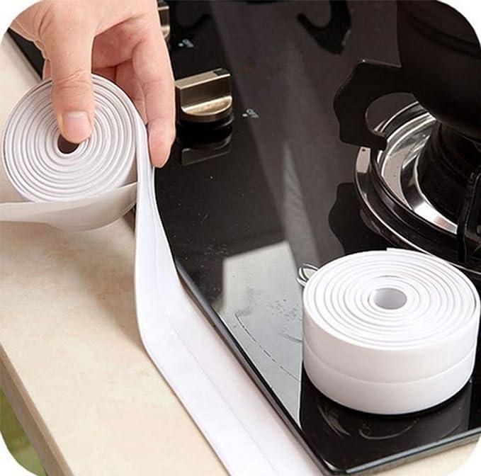 Badewanne Dichtleiste Selbstklebende Badewanne Und Wand Dichtband Fugenabdichtungsmaschine Dusche Bildschirm Dichtung 3,2 M 3,8 Cm,White