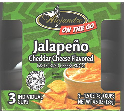 Alejandro On-The-Go Jalapeno Cheddar Cheese Flavored Snack Spread 4.5 Oz