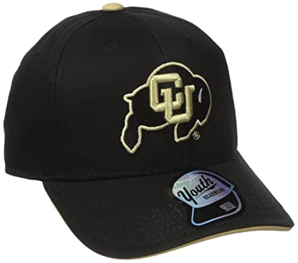 new styles 880e7 8422e NCAA by Outerstuff NCAA Colorado Buffaloes Kids   Youth Boys Basic  Structured Adjustable Hat, Black