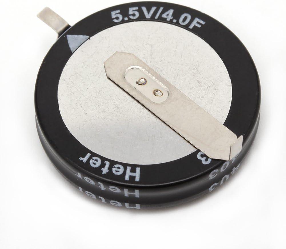 Sara-u 2 Pcs 4.0F 5.5 V Super Capacitor H-Type Button Smart Capacitance Universal