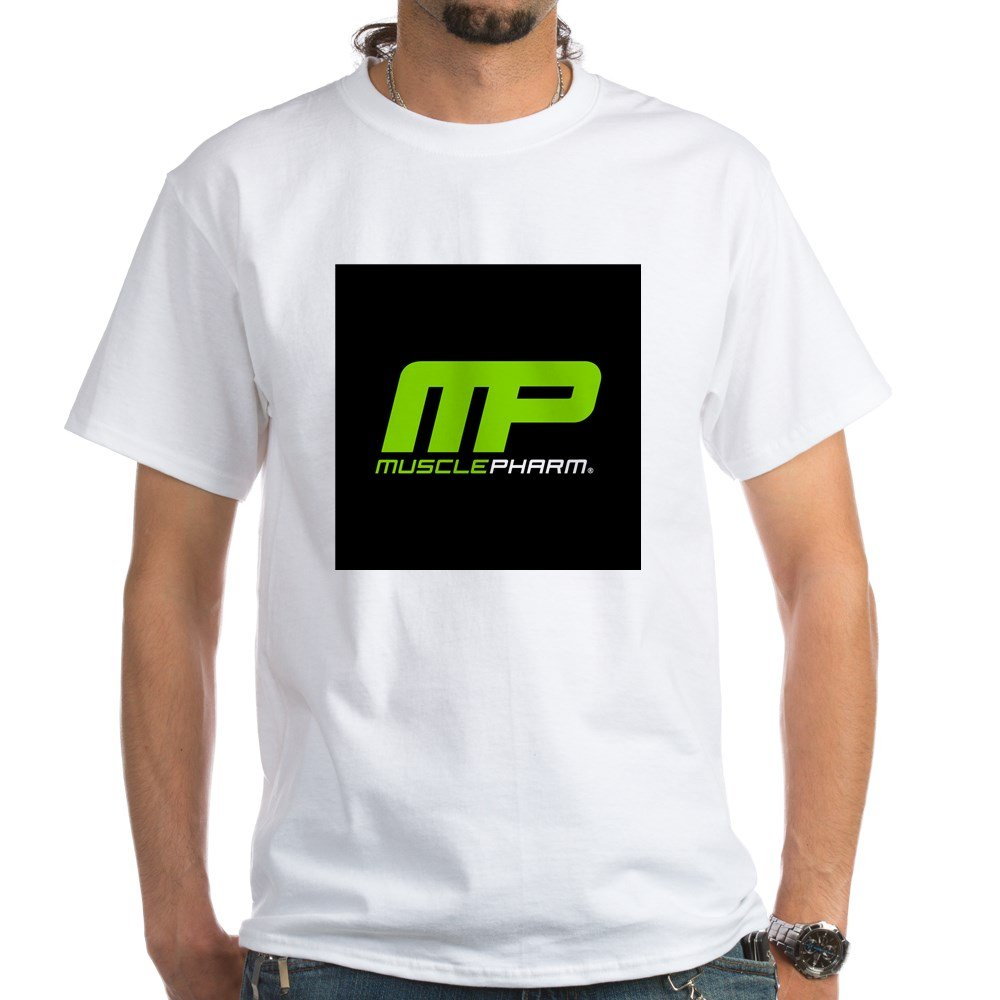 060ee7a51 Amazon.com: CafePress Muscle Pharm Bodybuilding Cotton T-Shirt White:  Clothing