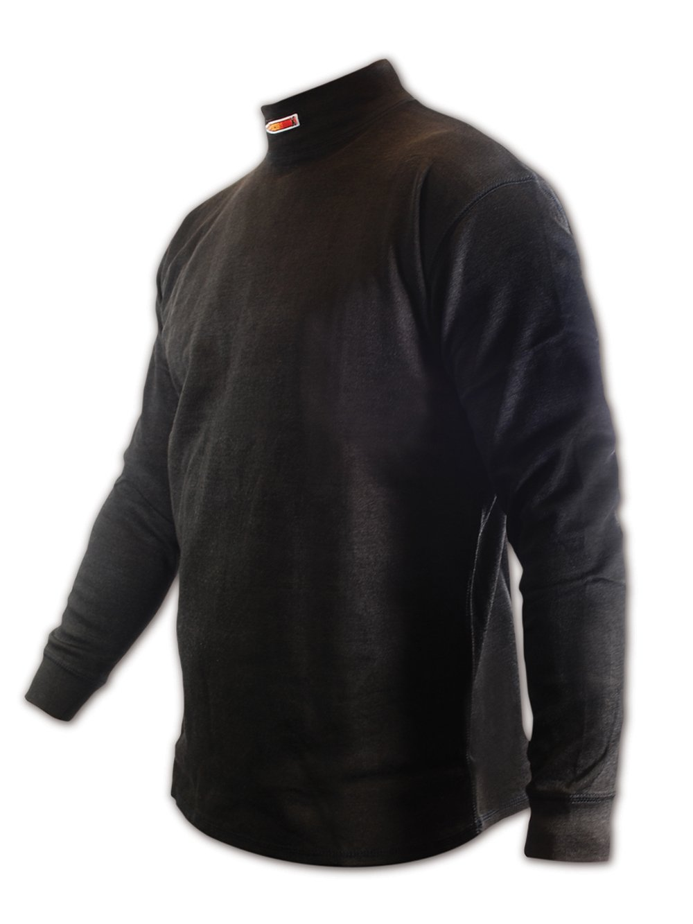 Magid CX54XXXL CarbonX Flame Resistant Long-Sleeved Crew Neck Undershirt, 3XL, Black by Magid Glove & Safety (Image #1)