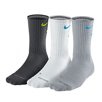 Amazon.com: New Nike 3 Pack Fly Dri-Fit Crew – Calcetines ...