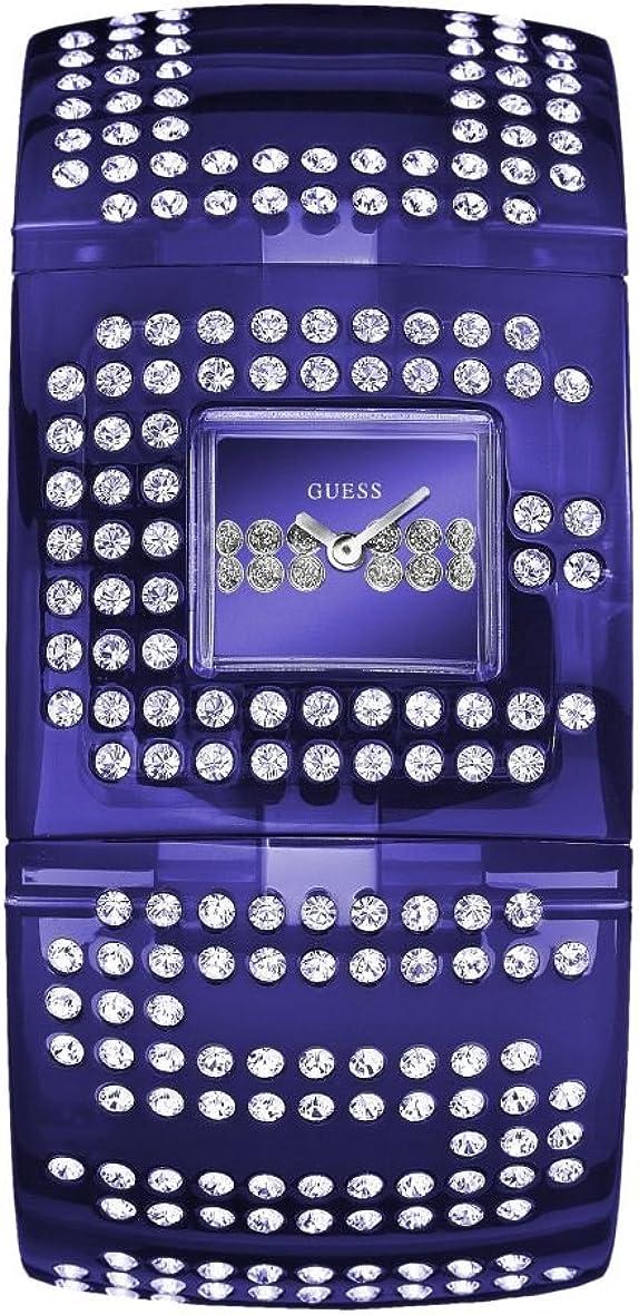 Guess Guess Trend W18534L2 - Reloj de mujer de cuarzo con correa de goma azul