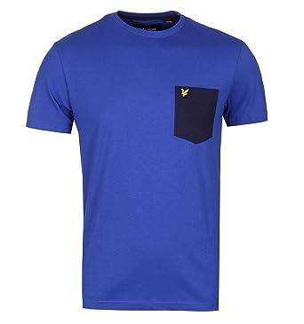 Blue uk Duke Shirt co Scott Amazon Clothing Lyle T Contrast amp; Pocket 7q6XwSvvp