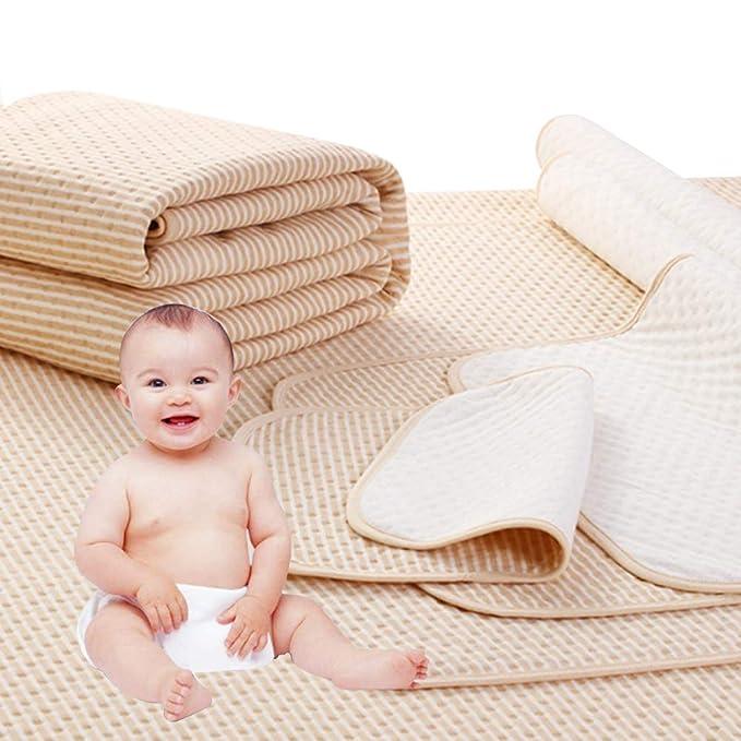 4 Capas Proteccion de Colchon Impermeable Respirable Algodón Bambú Protector Cama Infantil Adulto (50 * 70cm): Amazon.es: Bebé