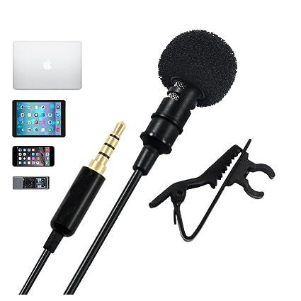 kingzhuo Lavalier micrófono de solapa con sistema Easy Clip On ...
