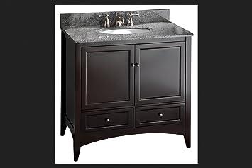 foremost beca3621d berkshire 36inch espresso bathroom vanity - Foremost Vanity