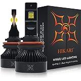Hikari 2020, H11 H8 H9 LED Bulbs, 150% Brightness, 100% Extra Night Visibility, TOP XHP50.2 LED, Halogen Replacement 6000K Co