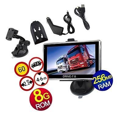 Navegador GPS 17,78 cm para camiones, coches y caravanas Europa 2014 Edition Camper