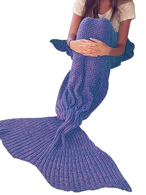 Cola de sirena simplEE prendas de vestir térmica de punto manta saco de dormir Crochet Wrap